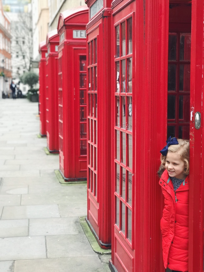 Vivi in London Phone Booth